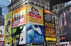 NYC: Times Square-Anschlagtafeln Lizenzfreie Stockfotos