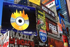 NYC: Times Square Billboards Royalty Free Stock Photo