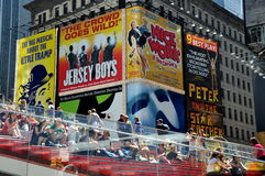 NYC: Times Square & Billboards Stock Images