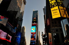 NYC: Times Square at Dusk Royalty Free Stock Photos