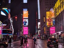 NYC times square. The hustle bustle of NYC Royalty Free Stock Photos