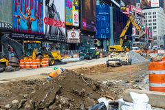 NYC Times Square Redesign Project Royalty Free Stock Images