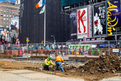 NYC Times Square Redesign Project Royalty Free Stock Image