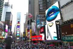 NYC, Times Square Reklamy Fotografia Stock
