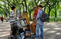NYC: Toeristen in Central Park Royalty-vrije Stock Afbeelding