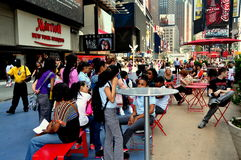 NYC: Touring Students in Times Square Stock Image
