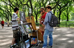 NYC: Touristen in Central Park Lizenzfreies Stockbild