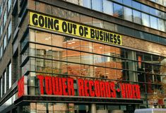 NYC: Tower Records Store on Broadway Stock Photo