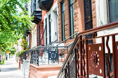 NYC Townhomes στοκ εικόνα