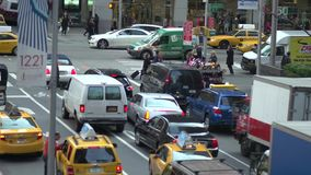 NYC traffic at intersection stock footage