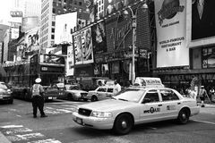 NYC traffic officer directs traffic Royalty Free Stock Image