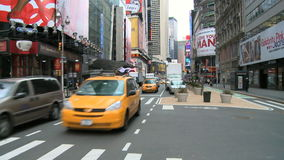 NYC Traffic and People in the morning stock video footage