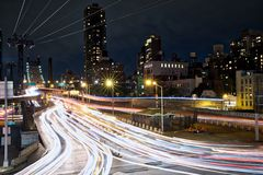 NYC Traffic - Time Lapse. This time lapse photo emphasizes traffic flow in the NYC area Stock Image