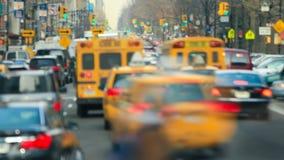 NYC-trafikTid schackningsperiod arkivfilmer