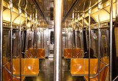 NYC Train - Inside Stock Image