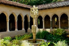 NYC: Trie Cloister Calvaire at the Cloisters Museum Stock Images