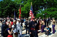 NYC: Trooping of the Colours at Memorial Day Ceremonies Royalty Free Stock Photos