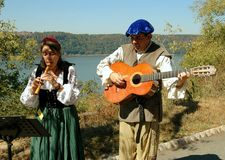 NYC: Troubadours bij NY Renaissance Faire Royalty-vrije Stock Afbeeldingen