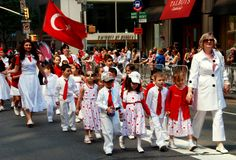 NYC: Turkish Day Parade Royalty Free Stock Photo