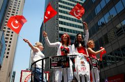 NYC: Turkish Day Parade Royalty Free Stock Image