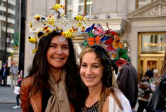 NYC: Two Women at 2014 Easter Parade Stock Image