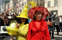 NYC: Two Women at Easter Parade Royalty Free Stock Image