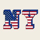 NYC typography, t-shirt graphics. Vector illustration Royalty Free Stock Photo