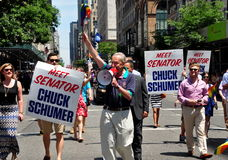 NYC: U. S.Senator Chuck Schumer at the2014 Gay Pride Parade Royalty Free Stock Photos