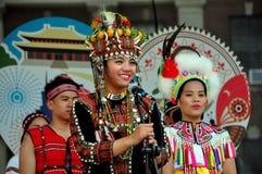 NYC: Uitvoerders bij Taiwanees Festival royalty-vrije stock afbeelding