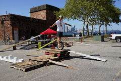 2015 NYC Unicycle Festival 60 Stock Afbeeldingen