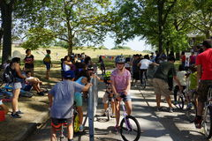 The 2015 NYC Unicycle Festival Part 2 3 Royalty Free Stock Images