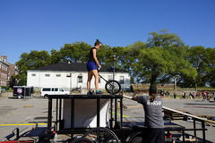 The 2015 NYC Unicycle Festival Part 2 85 Royalty Free Stock Photos