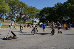 The 2015 NYC Unicycle Festival Part 2 98 Royalty Free Stock Photography