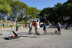 The 2015 NYC Unicycle Festival Part 2 99 Stock Image