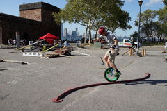The 2015 NYC Unicycle Festival Part 3 9 Royalty Free Stock Image