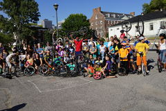 The 2015 NYC Unicycle Festival Part 3 15 Royalty Free Stock Images