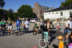 The 2015 NYC Unicycle Festival Part 3 43 Royalty Free Stock Image