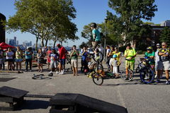 The 2015 NYC Unicycle Festival Part 3 47 Stock Image