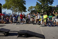 The 2015 NYC Unicycle Festival Part 3 55 Royalty Free Stock Image