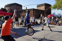 The 2015 NYC Unicycle Festival Part 3 63 Royalty Free Stock Image