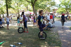 The 2015 NYC Unicycle Festival 2 Stock Photography