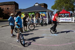 The 2015 NYC Unicycle Festival 23 Stock Photography