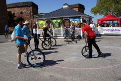 The 2015 NYC Unicycle Festival 25 Stock Photography