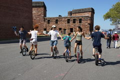 The 2015 NYC Unicycle Festival 36 Stock Image