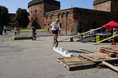 The 2015 NYC Unicycle Festival 53 Stock Images