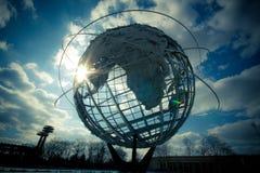 NYC Unisphere Immagini Stock Libere da Diritti