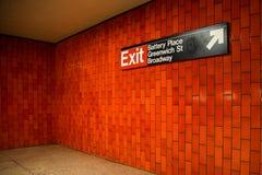 NYC-Untergrundbahn Lizenzfreies Stockfoto