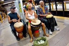 NYC Untergrundbahn-Musiker lizenzfreie stockbilder