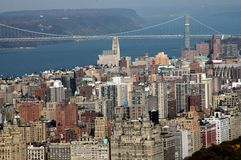 NYC: Upper West Side and Geo. Washington Bridge Stock Photos