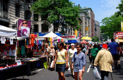 NYC: Upper West Side-Straßenfest Lizenzfreies Stockfoto